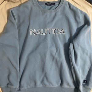 Nautica spell out Crewneck baby blue